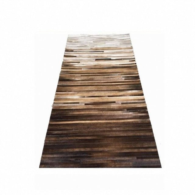 Aspen | Luxury Cowhide Hardwood inspired rug