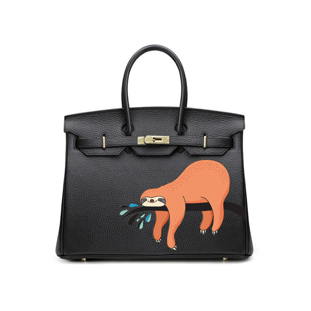 Crane | Luxury Vegan leather Kelly Bag