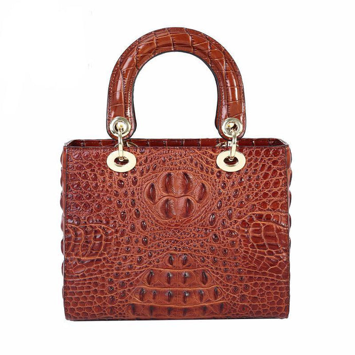 Hathaway | High Luxury Genuine Leather Crocodile  Bag