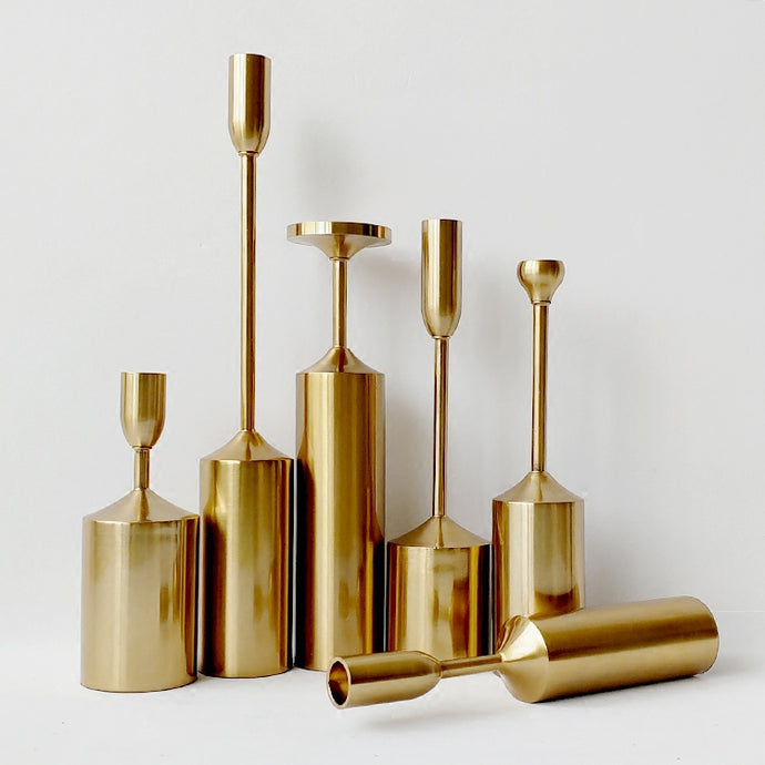 Santa Cruz | Brass Candle Holder
