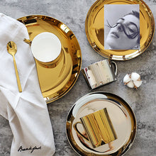 Athena Gold Plated Dinner Plates