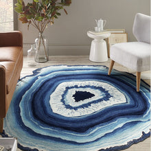 Agitate | Crystal Sliver High Quality Printed Rug