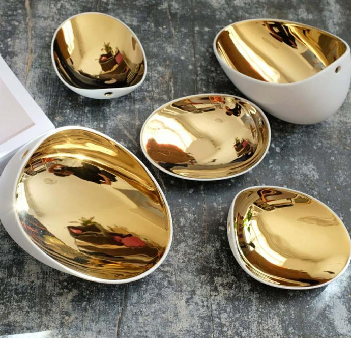 Lumo | Gold Gilded Egg Serving Tray
