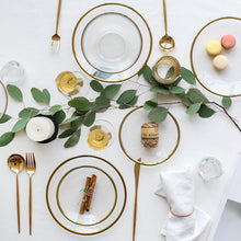 Mikos | Hand Painted Gold Gilded Glass Dish