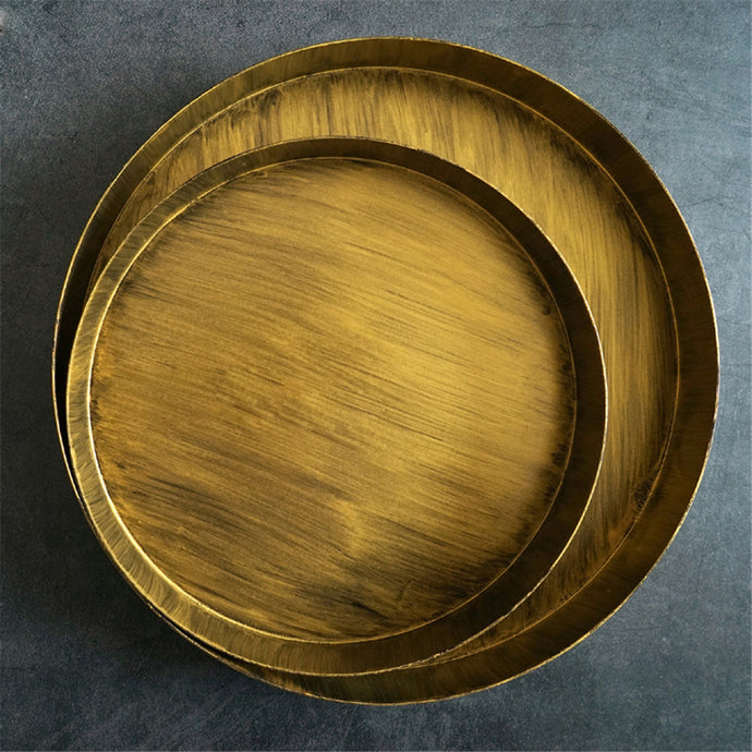 Solomon | Gold Brushed Serving Tray