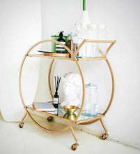Rainbow Room | Hollywood Regency Style Circular Bar Cart