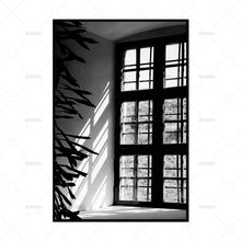 Shade Fields Collection | Black and White Art Print