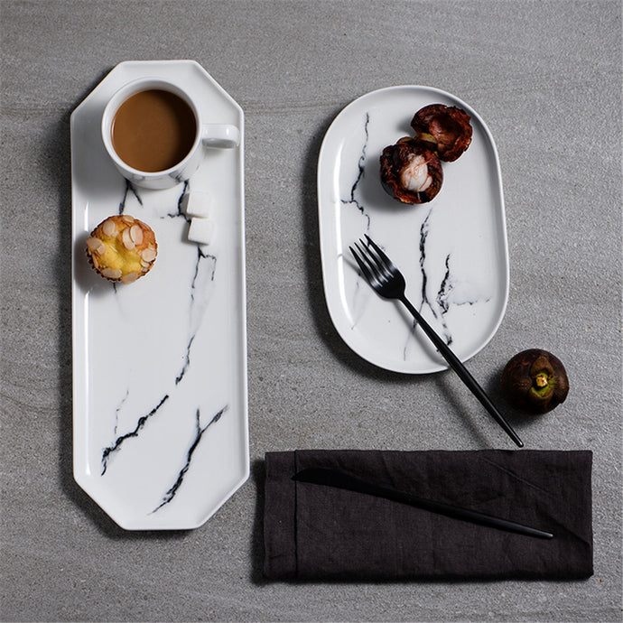 Sweede | Fruit and Espresso marbleized tray
