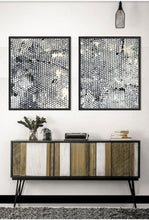 Ochre and Hive | Abstract Art Print