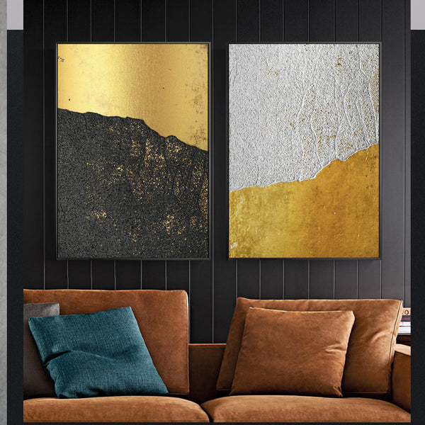 Dumas | Abstract Gold Gilded Art Prints