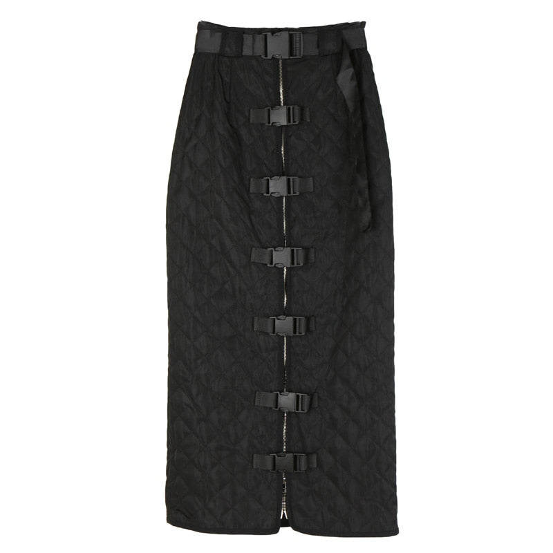 Rotterdam Utility Skirt | High Split Padded Midi Skirt