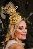 Gold and Yellow Ladies Headband Fascinator