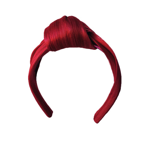 Red Silk Abaca Headband Fascinator Australia