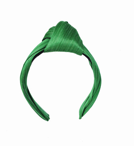Emerald Green Silk Turban Headband Headpiece Fascinator Perth Australia