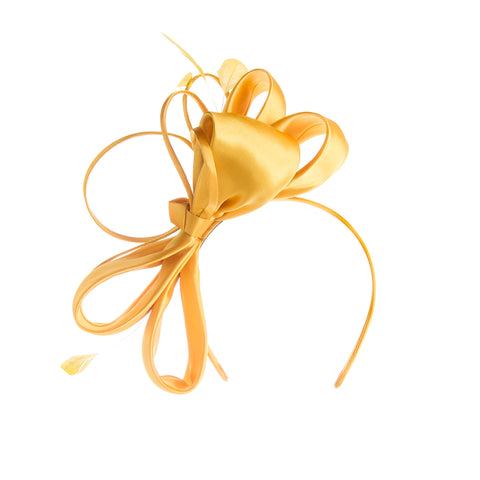 Yellow Fascinator for Spring Racing Carnival Melbourne