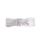 grey silk turban fascinator headband
