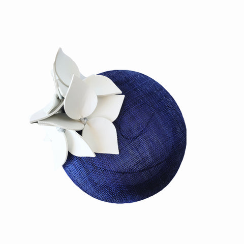 Cobalt Blue and White Ladies Fascinator Perth WA