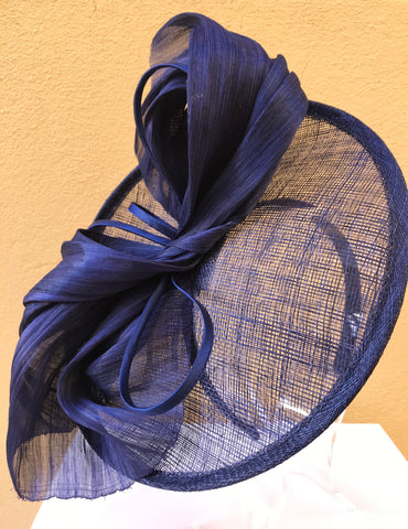 Navy Blue Wedding Races Fascinator