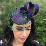 Purple Green Fascinator Melbourne Cup Perth