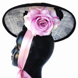 Pink and Black Fascinator Darwin