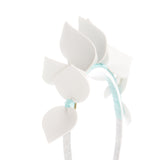 White and Turquoise Blue Headpiece Fascinator