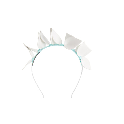 White and Turquoise Blue Headband