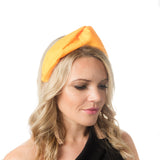 Yellow turban fascinator Perth Australia