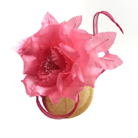 Yellow and Pink Ladies Fascinator to Buy Spring Melbourne Cup