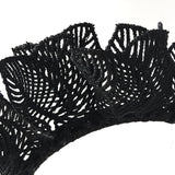 Black Lace Melbourne Cup Fascinator Headband Headpiece