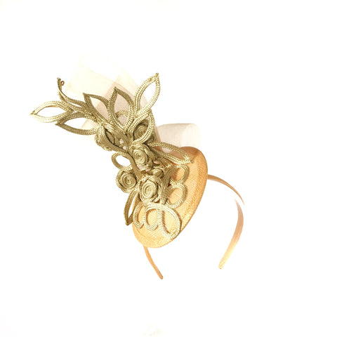 Yellow Fascinator Headband Perth Ascot Australia