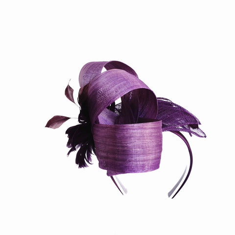 Purple ladies fascinator Perth