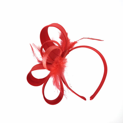 Red ladies fascinator Melbourne Cup