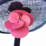 Navy and Fushia Pink Ladies Fascinator to Buy Brisbane