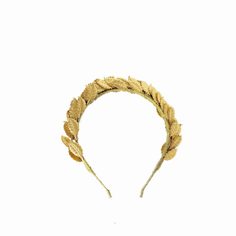 Gold metal Leaf Crown HEADPIECE fascinator