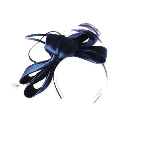 Navy Blue Fascinator Perth Australia Racewear