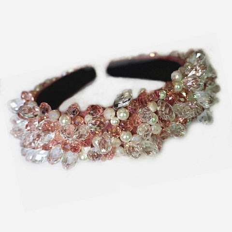 Pink Beaded Headband for Melbourne Cup Races Australia