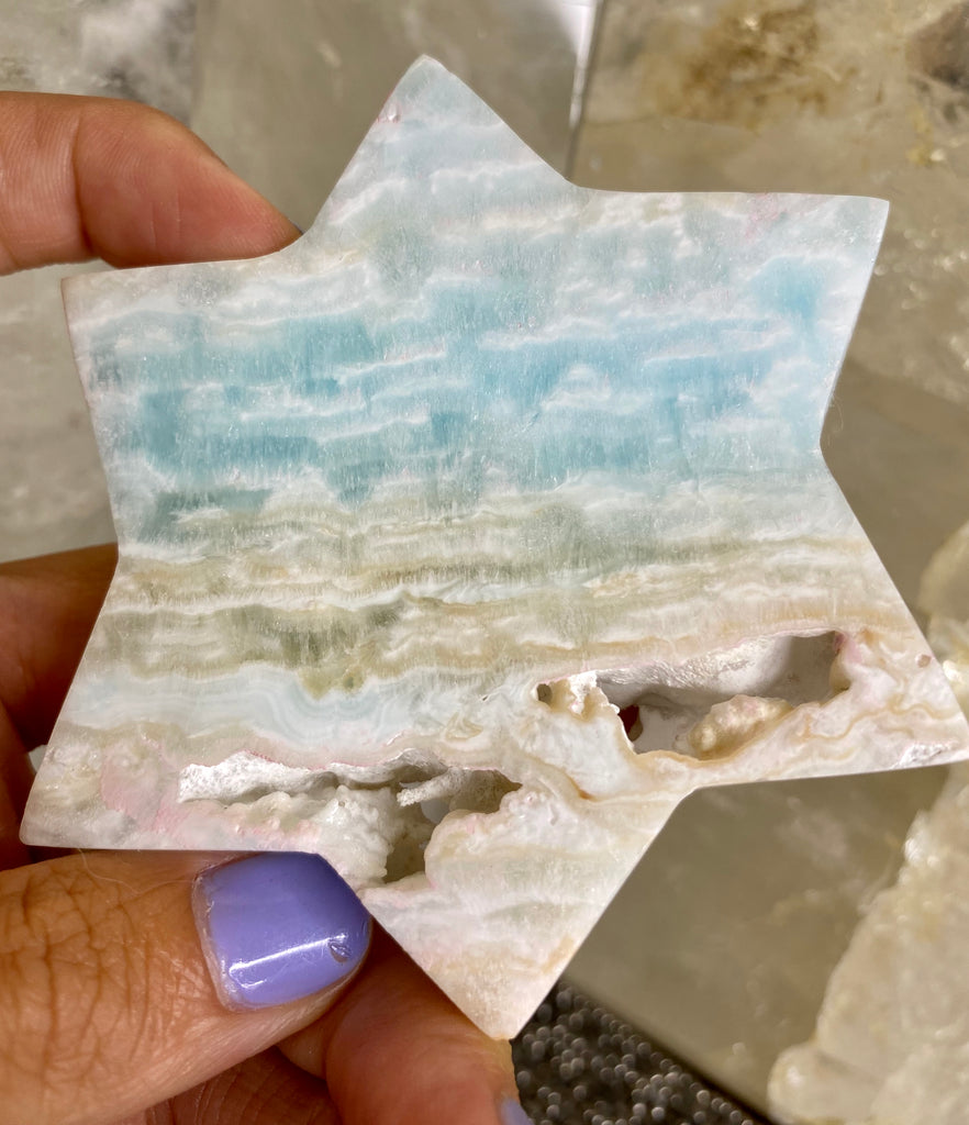 Caribbean Calcite Clouds & Stars