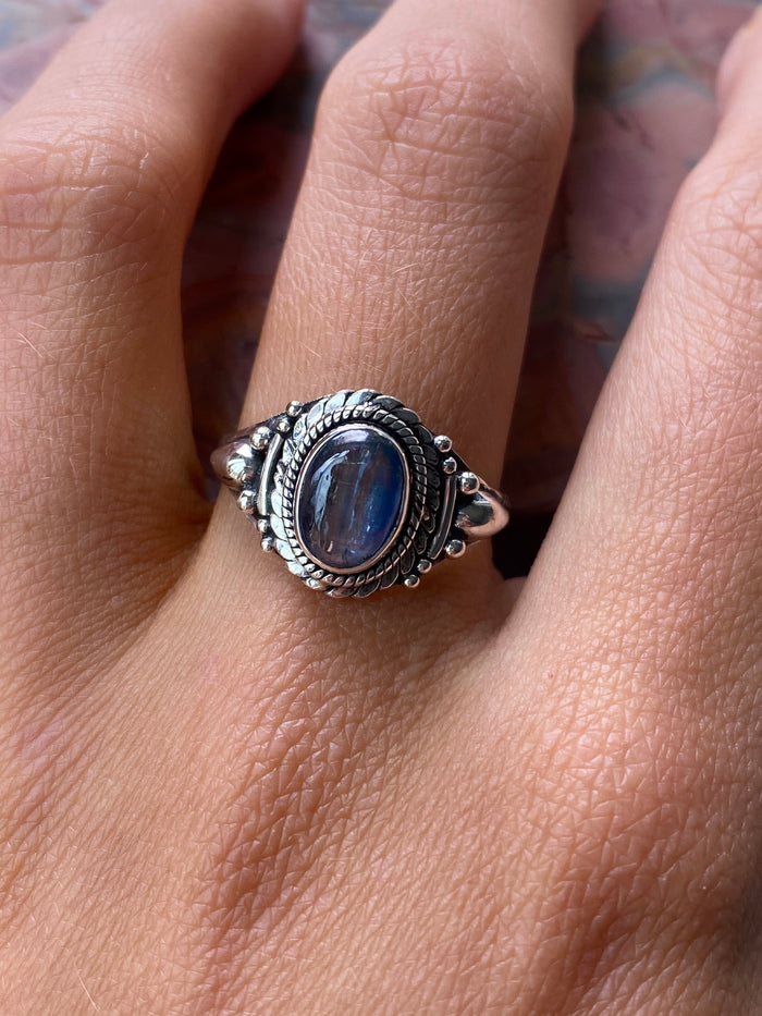 Labradorite Sterling Silver Ring Size 8.5