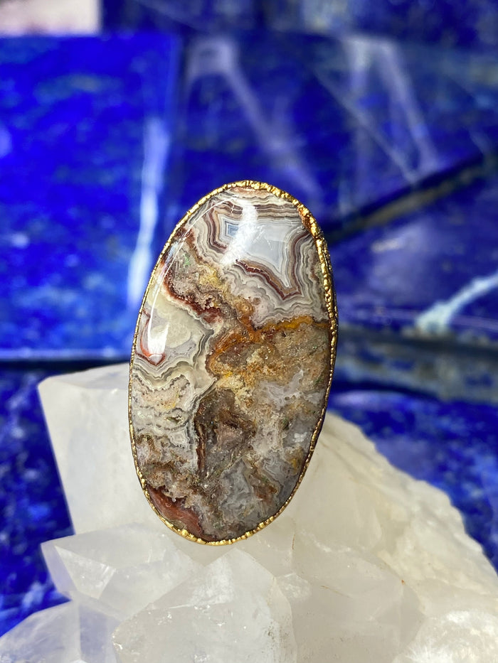 Crazy Lace Agate Ring 6