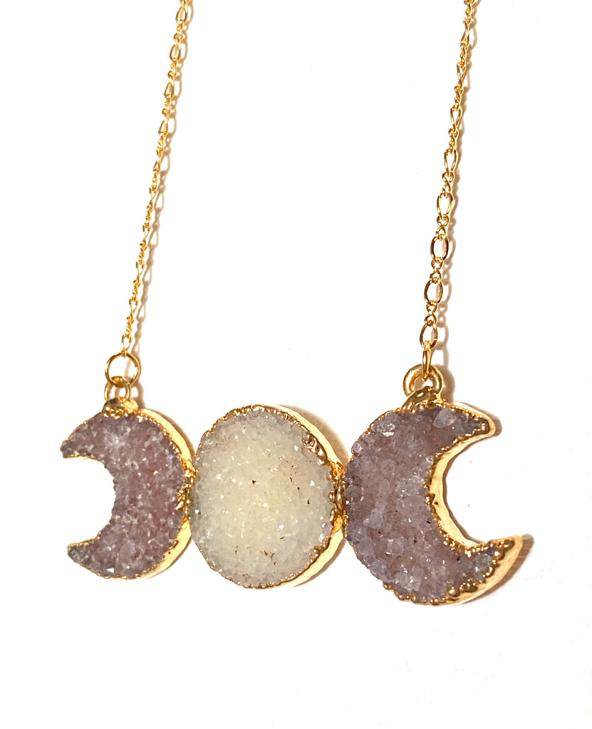 Moon and Sun Gold Pendant