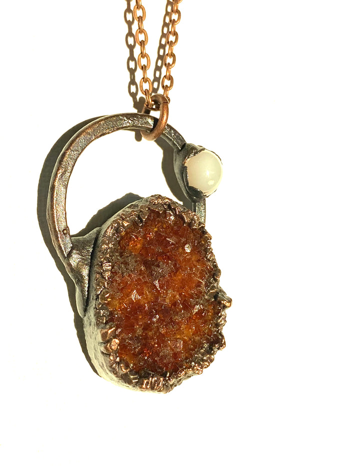 Citrine and Moonstone Pendant