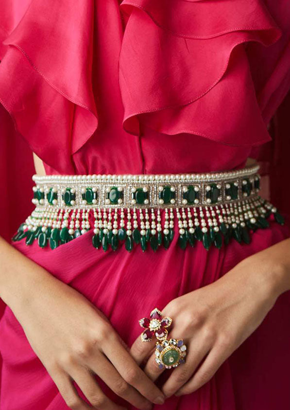 Emerald Bejwelled Belt