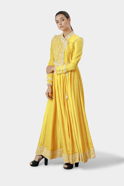 Embroidered Wrap Anarkali