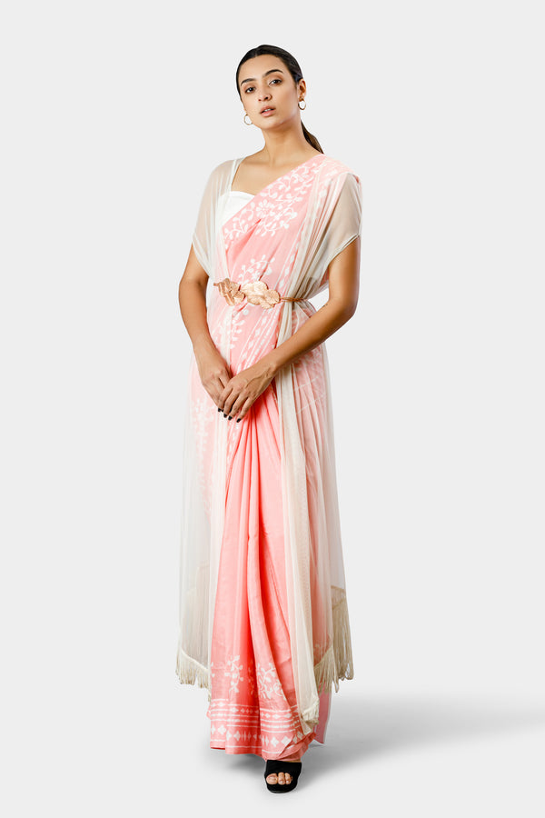 Cape Saree with Belt
