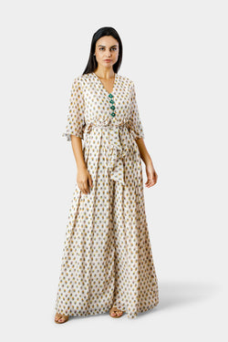 Zahara Print Jumpsuit With Belt