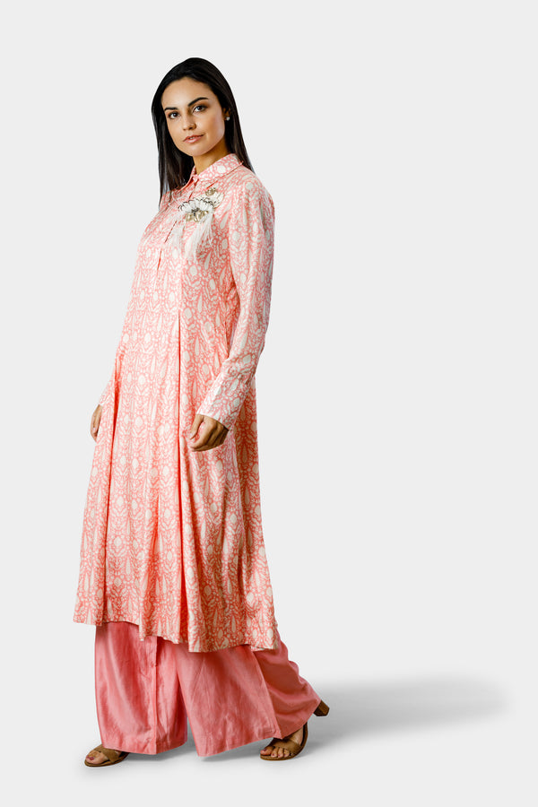 Blush Pink Kurta with Pant