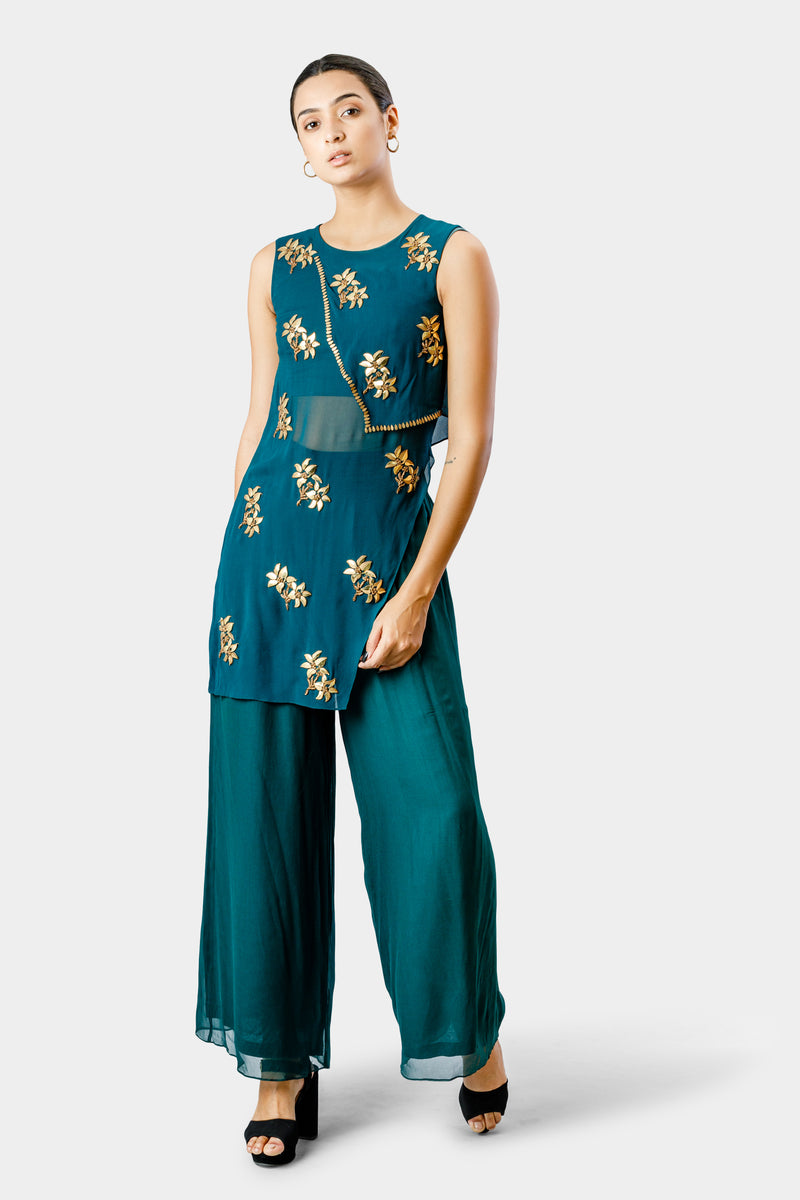 Embroidered Tunic with Pant