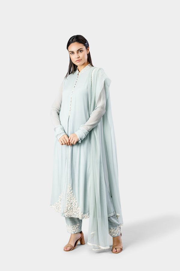 Ice Blue Anarkali