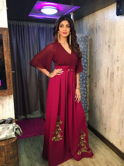 Shilpa Shetty In Color Blocked Fontana Jumpsuit