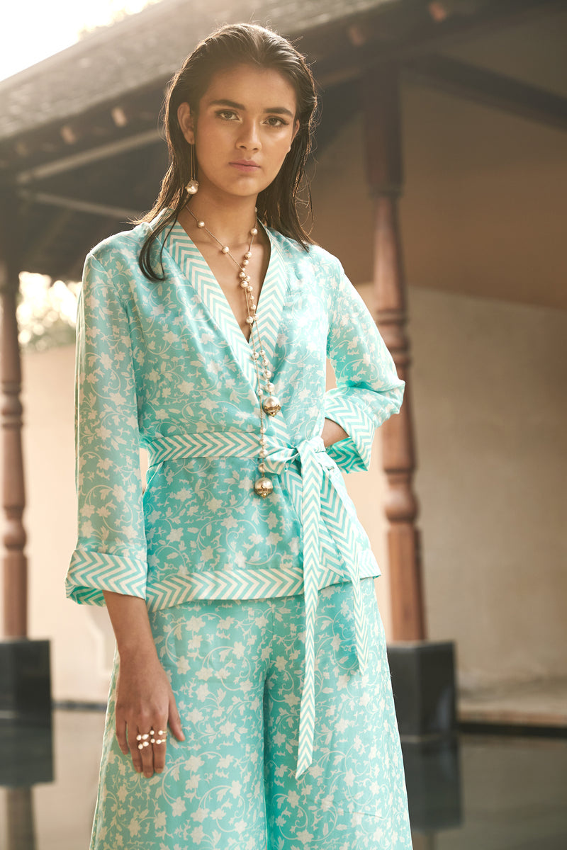 Cinco Pant Suit - Aqua